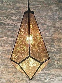 Farol decorativo colgante, en forma de Prisma,Vintage, Fabricado con espejo viejo