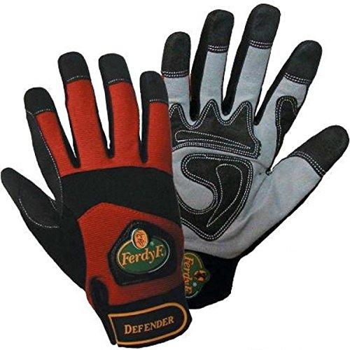 1 Paar FerdyF. Mechanics Handschuhe Power Rot-Schwarz