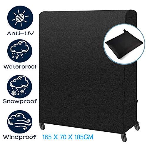 Tesmotor Tischtennisplatte Abdeckung Wasserdicht Schutzhülle Für Tischtennisplatte Outdoor/Indoor185 x 70 x 165 cm