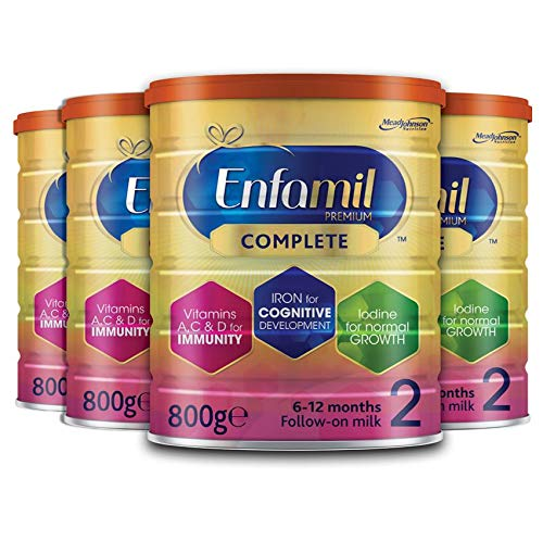 Enfamil Premium Complete Stage 2 Follow-on Milk Formula Multipack 4 x 800g – Milk Powder for Infants from 6 Months to 1 Year – Total 3200g