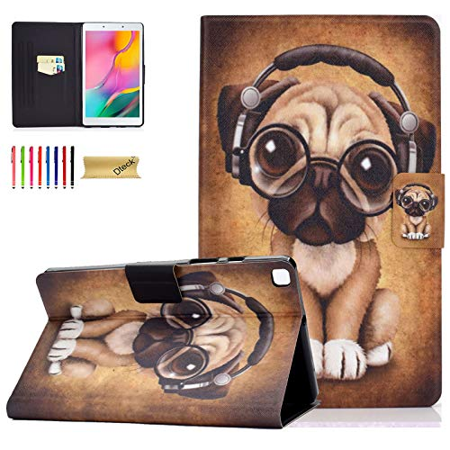 Dteck Case for Samsung Galaxy Tab A 8.0 inch T290, PU Leather Slim Folio Protective Tablet Case with Stand Magnetic Cover for Samsung Galaxy Tab A 8.0 2019 Release Model T290 T295 T297,Music Dog
