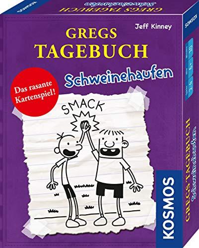 KOSMOS 741747 Gregs Tagebuch - Schweinehaufen, Das rasante Kartenspiel, für 2-4 Personen ab 6 Jahren, Kinder-Spiel mit den original Figuren der beliebten Kinderbücher von Jeff Kinney