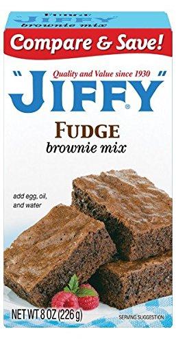 Fudge Brownie Mix - Delicious Brownie Mix, 8 oz,(Jiffy)