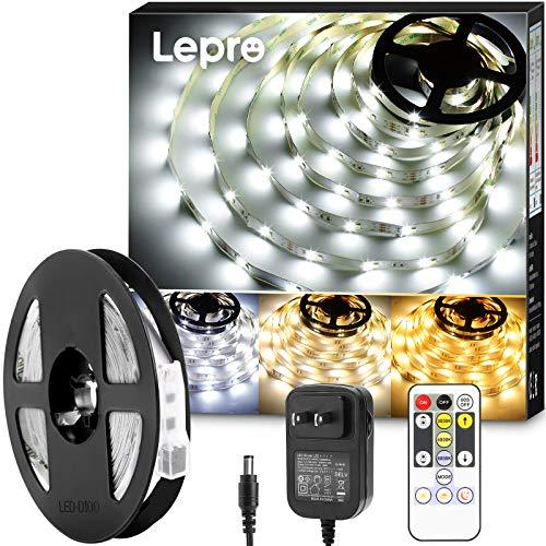 Lepro テープライト ledテープ 5m 電球色・昼白色・昼光色 明るさ調整 間接照明 リモコン付き 調光調色 イ...