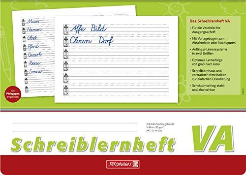 Brunnen 1044005 Schreiblernheft (VA, A4, quer, Lineatur VA, 16 Blatt)