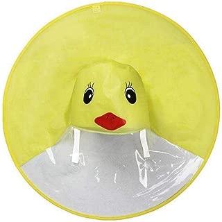 Yellow Duck Raincoat Creative UFO Children's Rain cover Waterproof Raincoat For Kids Umbrella Cover Outdoor play rain hats