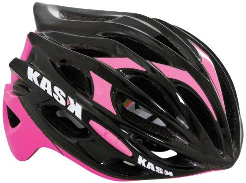 Kask Mojito 16 - Casco para bicicleta - Mixto para adultos, Multicolor (Black/Fuschia), M (52-58 cm)