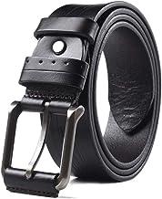 Fashion Belt Men's Casual Leather Reversible Belt Classic Designs Durable (Color : Black, Size : 105cm)