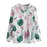 Overdose Las Nuevas SeñOras De Las Mujeres Retro Floral O-Cuello Zipper Up Bomber Mejor Venden Chaqueta Casual Outwear (S, M-Verde)