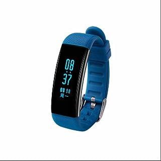 Pulseras Actividad con Pódometro,Impermeable IP68 Reloj Inteligente,Pulsera Inteligente con Pulsómetro,Monitor de Actividad,Notificación de Mensaje SMS,Monitor de Calorías,Bluetooth para IOS y Android