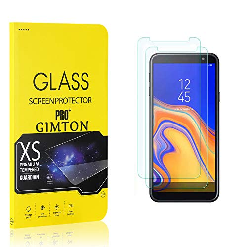 GIMTON Displayschutzfolie für Galaxy J4 Core, 9H Härte, Anti Bläschen Displayschutz Schutzfolie für Samsung Galaxy J4 Core, Einfach Installieren, 2 Stück