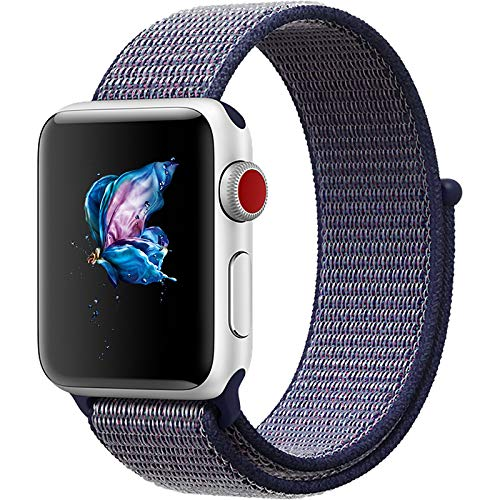 NA Replacement Sport Nylon Woven Band for Apple Watch Series 4 40mm/44mm blue 40mm
