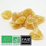 Les Papoteuses | Gingembre Confit Bio en Cubes 500 g | Certifié Biologique | Filière Commerce Équitable | 100% naturel | Fruit...