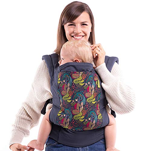 Boba Mochila Portabebés 4GS, Ergonómica y Adaptable con Tejido Ajustable hasta los 20 Kg, 100% Algodón (The Mermaid and The Unicorn)