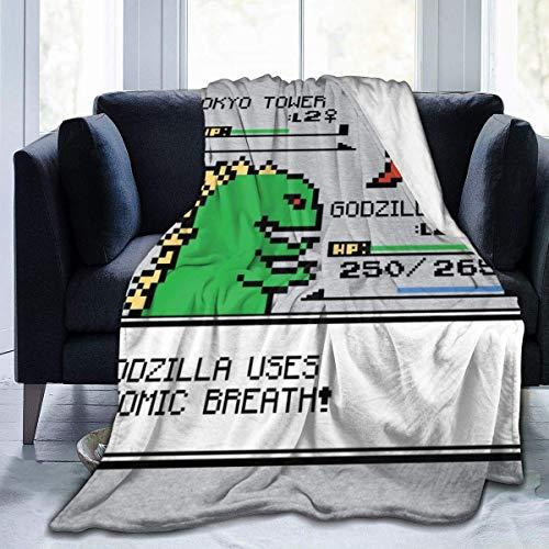 haoqianyanbaihuodian Monster of The Pocket Godzilla - Manta de franela de forro polar, ligera, ultrasuave, cálida, para sofá