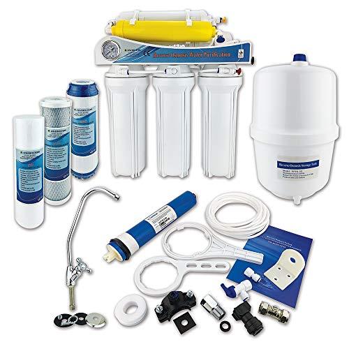 Finerfilters - Sistema de ósmosis inversa de 6 etapas con eliminación de flúor (50 GPD), para beber la mejor agua potable