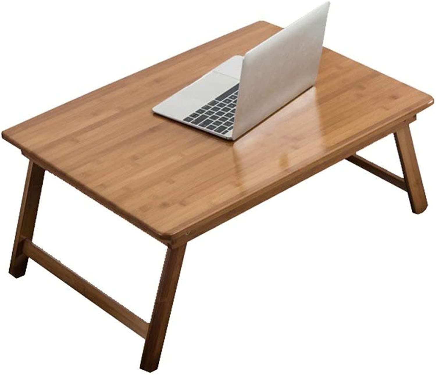 TINGTING Side Table desk End Bedside Wood Folding Table Dining Table Multi-function Computer Home Kitchen Desk Save Space bed brown (color   Wood, Size   70  40  30cm)