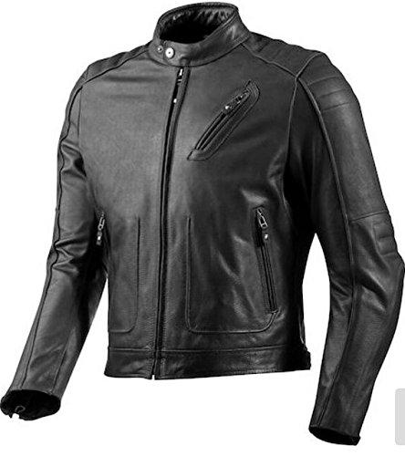 Sky Line Ocean Black Men's Leather Classic & Stylish Moto Jacket