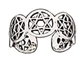 Sterling Silver Mens Unisex Adjustable Star Of David Toe Ring