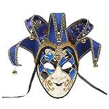 NUOBESTY Bufón Mascarada Máscara Máscara Veneciana Mardi Gras Mascarilla para Mujeres Hombres Cosplay Disfraz Pascua Arte de La Pared Decoración Colección Foto Prop Estilo 2