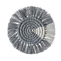 J-ouuo テーブルマット コースター ボヘミアン 手織り 滑り止め 綿ロープ編みマット 茶パッド コップ敷き 断熱パッド 耐熱パッド 茶托 再利用可能 飲酒 コーヒー キッチン用 オフィス レストラン用