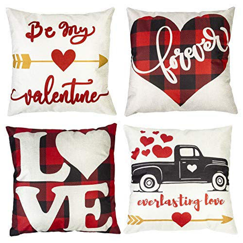 Valentines Day Throw Pillow Covers 18x18 Inch