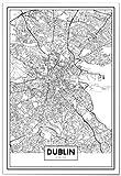 Panorama® Poster Karte von Dublin 35 x 50 cm | Gedruckt