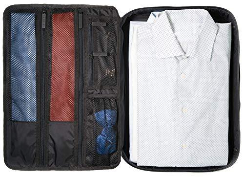 DEGELER® Hemdentasche für knitterfreie & faltenfreie Hemden & Blusen - mit Fächer für Krawatten, Fliegen   Reisezubehör für Kleidertasche, Kleidersack, Packtasche & Organizer   Ideal fürs Handgepäck