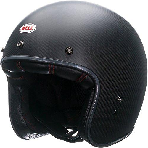 Bell Powersports Custom 500 Motorradhelm, Schwarz (Carbon Matte), M