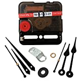 IndianEcraft Ajanta Mfg. Quartz Sweep and Silent Movement Machine for Wall Clock with 2 Set of Needles (Needles - Black)