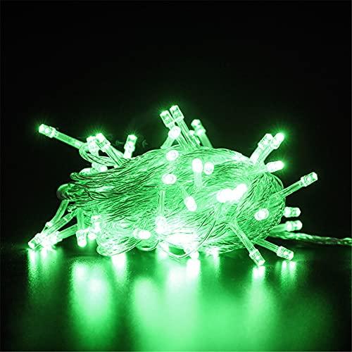 Cadena de luz LED 100m 800 LED Garden Light Impermeable, con control remoto y temporizador 8 tipos de cadena de luz, utilizados para luces de alambre de cobre de decoración interior y exterior,Verde