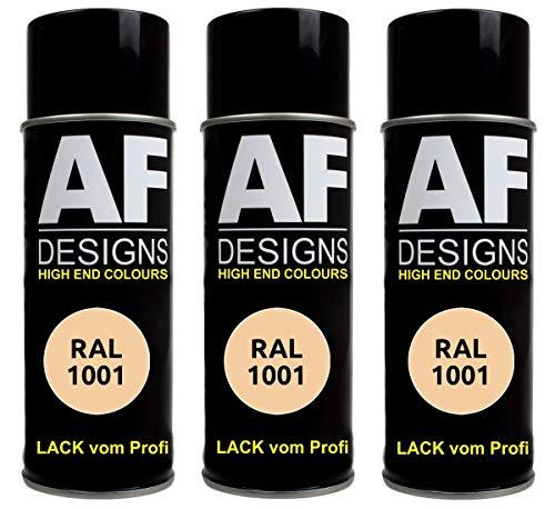 Alex Flittner Designs 3X RAL Lackspray Autolack Buntlack Spraydose RAL1001 BEIGE matt