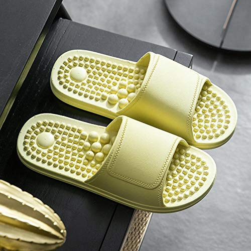 ZZLHHD Massage Hausschuhe für Männer und Frauen,Gesundheits-Fußmassage-Pantoffeln, rutschfeste Badepantoffeln-grün_40-41,Massage Hausschuhe Mode Indoor Männer Frauen