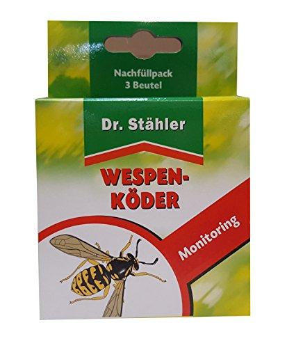 Dr. Stähler 001410 Nachfüllpack für Biologische Wespenfalle, 3 Stück