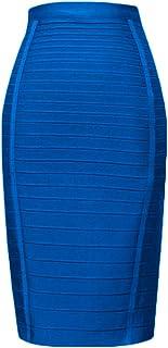 HLBandage Women's High Waist Elastic Rayon Bandage Pencil Skirt