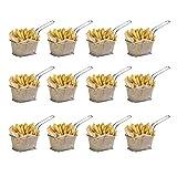 WEB2O – Juego de 12 cestas para patatas individuales – Acero inoxidable – 10 x 8 x 7 cm