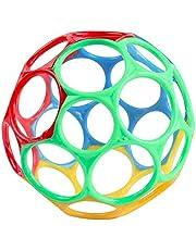 BST&BAO Oball baby rammelaar, flexibele bal baby, kinderen grijpende bal baby, flexibel en gemakkelijk vast te houden ontwerp, bal en rammelaar speelgoed voor onderweg