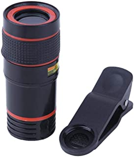 Universal 8X Zoom Optical Telephoto Telescope Lens for Phone Camera(Black)