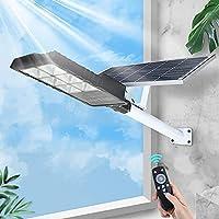 ソーラーライト屋外ガーデンLedソーラーストリートフラッドライト50W-リモートおよびモーションセンサー付き300W屋外ランプ-庭、庭、通り、バスケットボールコート用のIp66防水ソーラーパワーライト