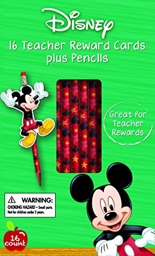 Eureka Back to School Disney Mickey Mouse Pencils and Character Cards, 16 Each