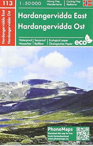 Hardangervidda Ost, Wander - Radkarte 1 : 50 000 (PhoneMaps Wander - Radkarte Norwegen)