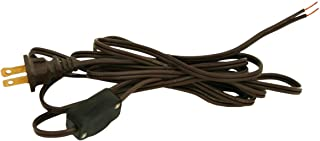 Royal Designs Lamp Cord with High/Low Rotary Switch and Molded Plug, Brown, 9 feet, SPT-2 (CO-3001-BR-9-1)