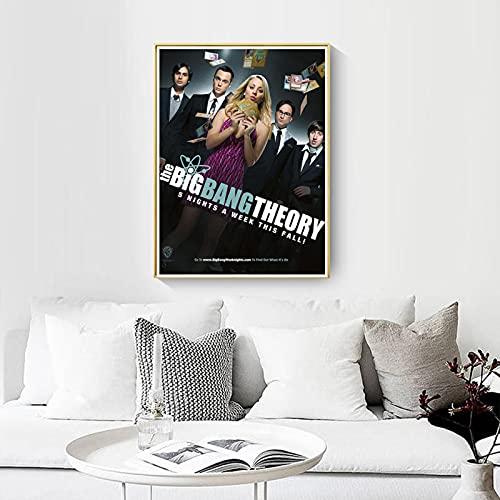 shuimanjinshan Big Bang Theory Movie Poster Wall Artist Home Decoration Canvas Art Nordic Living Room Hotel Bar Cafe (Pe-679) 50x70cm No frame