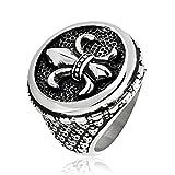 West Coast Jewelry | Crucible Stainless Steel Fleur de Lis Cast Ring - Size 11