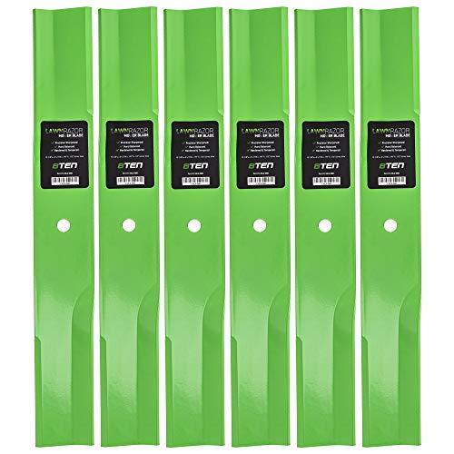 8TEN LawnRAZOR Low-Lift Blade 52 Inch Deck for Toro ProLine TimeCutter Z17 27-0990 44-5480 56-2390 92-7961 6 Pack