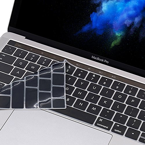 ProElife Premium Ultra Thin Silicone Keyboard Protector Cover Skin for MacBook Pro with Touch Bar...