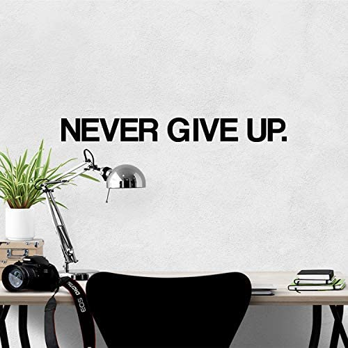 My Vinyl Story Never GIVE UP Wall Sticker Motivational Large Gym Wall Decal Quote for Home Gym product image