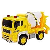 Buyger Coche Camion Juguetes Camiones de Construcción Hormigonera Vehículos Autos Juguete con Luces y Sonido Navidad Cumpleaños Regalo para 3 4 5 Años Niños