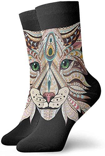 Abstract Lynx - Calcetines cortos para vestir, 30 cm
