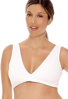 318fa4586 Lamaze Intimates Women s Maternity Overnight Nursing Wide Band Shoulder  Straps Bra White Large